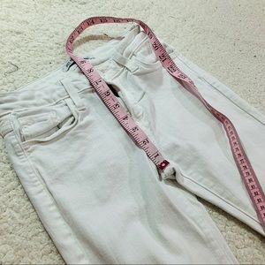 Just Black Jeans - Just black white multi slit distressed skinny jean